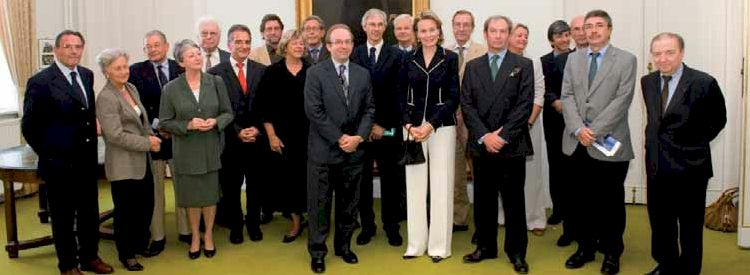 Photo de famille : la Princesse Mathilde assistait à la célébration...